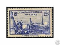 "FRANCE STAMP TIMBRE 1939 YVERT N° 426 "" EXPOSITION DE NEW YORK "" NEUF xx TTB"