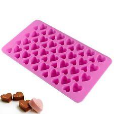 Silicona Mini 56 Corazón Pastel de chocolate para hornear galletas Molde Molde Gelatina Bandeja de Horno