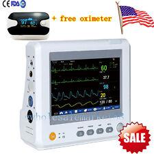 "ICU 7"" Patient Monitor 6 parameter Vital Signs ECG NIBP TEMP SPO2+ OXIMETER GIFT"