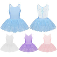 Toddler Girls Gymnastics Ballet Dress Kids Leotard Tutu Skirt Dance wear Costume
