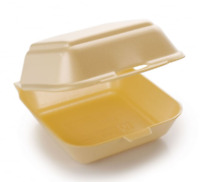 HB6 Food Take Away Large BURGER BOX Foam polystyrene CONTAINERS x 50 Gold
