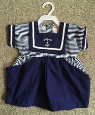 Vintage Baby Sailor Suit From Red Baron/Navy & White Stripes/New Old Stock