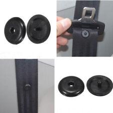 10×Universal Clip Seat Belt Stopper Buckle Button Fastener Safety Black Car Part