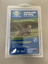 PetSafe COME WITH ME KITTY Cat Harness & Bungee Leash Blue, Large, BRAND NEW