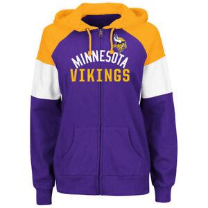 Minnesota Vikings Women's Hot Route Zip Up Hoody Sweatshirt