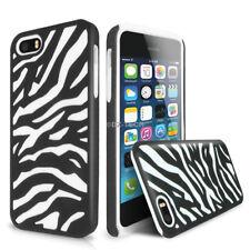 For Apple iPhone SE 5S Zebra Hybrid Hard Phone Case Cover+Tempered Glass Screen