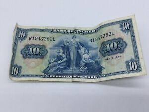 Banknote, Bank Deutscher Länder, 10 Mark 1949, R1947283L