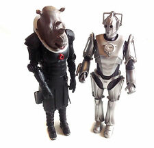 "BBC TV cult DOCTOR WHO CYBERMAN & JUDOON 12"" alien villain toy figures not boxed"