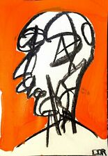 EXPRESSIONISM ABSTRACT PAINTING PORTRAIT COLLECTION MIND READER MODERN FINE ART
