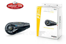 CELLULAR LINE INTERPHONE F3 MC SINGOLO INTERFONO MOTO SCOOTER BLUETOOTH