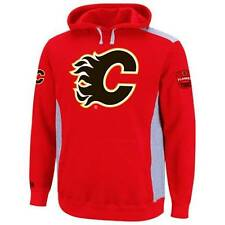 New NHL Majestic Calgary Flames Hat Trick Pullover Hoodie Size XL