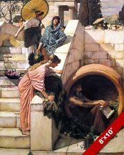 DIOGENES IN HIS TUB GREEK CYNIC PHILOSPHER OIL PAINTING ART REAL CANVAS PRINT