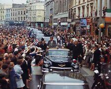 PRESIDENT JOHN F. KENNEDY MOTORCADE IN CORK, IRELAND 1963 - 8X10 PHOTO (AA-040)
