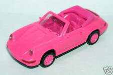 MICRO WIKING HO 1/87 PORSCHE 911 CARRERA 4 CABRIOLET ROSE roues rose NO BOX
