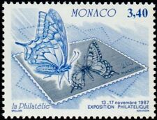 """MONACO N° 1588 """"EXPOSITION OETP, PAPILLON ET TIMBRE POSTE 3 F 40"""" xxTTB"""