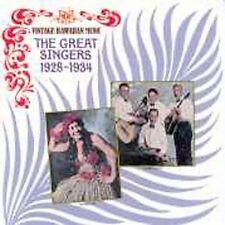 NEW Vintage Hawaiian Music: The Great Singers 1928-1934 (Audio CD)