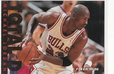 MICHAEL JORDAN Total D BULLS #23 Fleer Basketball INSERT CARD Chicago AIR LE