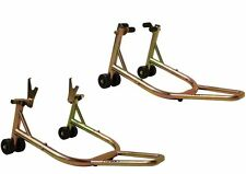 T-Rex 35YRWRNTY Double Swingarms Front Rear Honda Aprilia Gold Motorcycle Stands