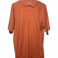 COLUMBIA Shirt / PFG Omni Freeze Vented Coral Polo Short Sleeve Shirt Mens ~M