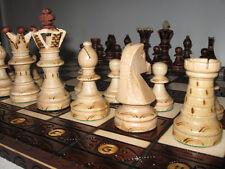 Schach Schachspiel Royal aus Holz Schachbrett 54 x 54 cm Handarbeit