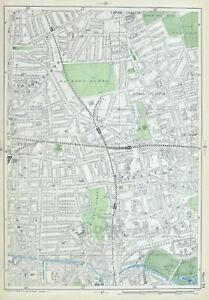 "LONDON, 1906 - Antique Map, 9"" scale - HACKNEY, KINGSLAND, CLAPTON - Bacon."