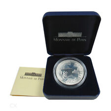 *** 100 Francs Gedenkmünze FRANKREICH 1993 Jean Moulin PP BE im Etui France ***