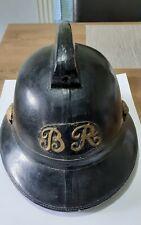 More details for vintage british rail firemans helmet -  made by j compton & sons - rare item!
