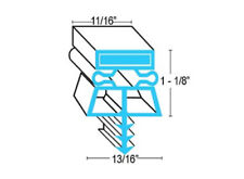 "Kolpak McCall 22525-1075 Door Gasket 36"" X 78"" For Walkin Cooler FREE SHIPPING"