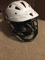 Used Cascade CLH2 Lacrosse Helmet MML WB-XS-R White