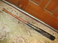 Tom Lampkin Game Used Autographed Baseball Bat