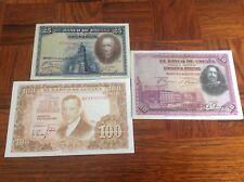 25,50,100 españa pesetas BILLETES