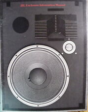 JBL VINTAGE JBL Speaker Enclosure Instruction Manual PACKAGE #2 62 Pages