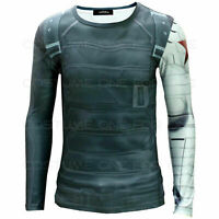 Captain Amercia 2 T-Shirt The Winter Soldier General Printing Cosplay Costume