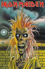"""IRON MAIDEN FLAGGE / FAHNE """"SAME - FIRST LP COVER"""" POSTER FLAG POSTERFLAG"""