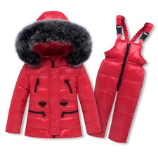 Winter Baby Clothing Set Girl Ski Suit Sets Boy's Outdoor Kids Jacket+Trousers