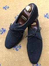 John Lobb Mens Blue Suede Lace Up Shoes UK 10 US 11 EU 44 Orion