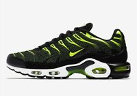Nike Air Max Plus 'Black and Volt' Running Shoes 852630-036 Men's Size 12