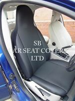 TO FIT A CITROEN C1, CAR SEAT COVERS, SOFT BLACK + LEATHERETTE TRIM