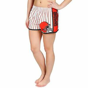 Forever Collectibles NFL Women's Cleveland Browns Pinstripe Shorts