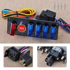 12V LED Racing Car Ignition Switch Toggle Start Starter Push Button Panel Kit