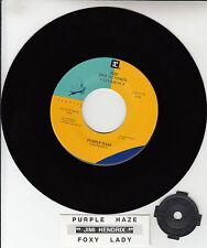"JIMI HENDRIX Purple Haze & Foxy Lady 7"" 45 rpm record + juke box strip NEW"