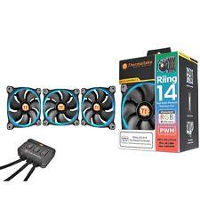 Thermaltake Riing14 140mm RGB LED Fan w/ Fan Switch - 3 Pack