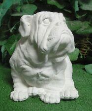 English French American Bulldog Puppy Dog Latex Plaster Mold Concrete