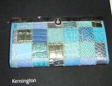 Kensington Slimline Blue with metallic hues wallet, purse, clutch