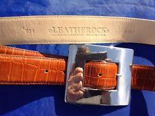 "Superb NWOT LEATHEROCK ""Crocodile/Alligator"" Belt 34""(86cm)Waist M. I. USA"
