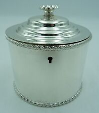 More details for old sheffield plate tea caddy box - lock, tin - replated - georgian - george iii
