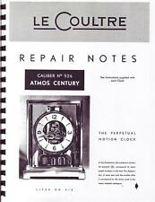 Jaeger Lecoultre Repair Manual For Vintage Atmos Clock With Buy It Now Feature