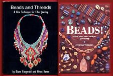 2 Bead books: Beads and Threads & Beads!: Make Your Own Unique Jewellery