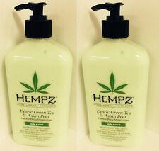 2 Hempz Exotic Green Tea Asian Pear Body Moisturizer & After Tan Tanning 17 oz