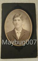 Vintage Antique Cabinet Card Photograph young man Pittsburgh, PA